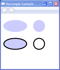 Draws several Ellipse elements within a Canvas