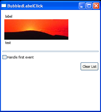 Event sender, event source and event original source