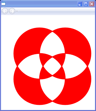 Four Overlapping Circles