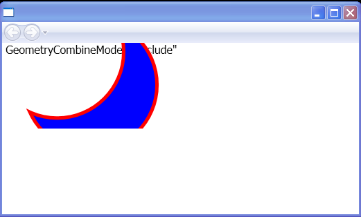 WPF Geometry Combine Mode Exclude