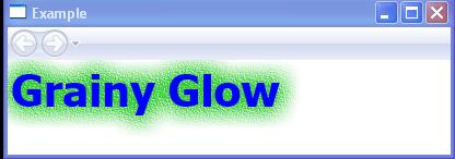 Grainy Glow and OuterGlowBitmapEffect