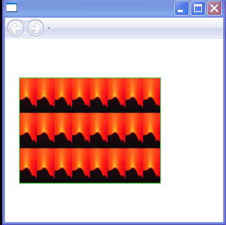 ImageBrush's tiles are set to 25 by 50 pixels