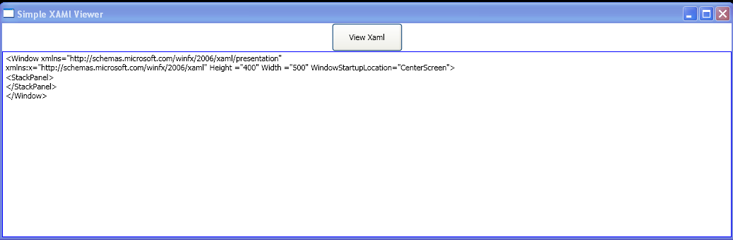Launch a window with defined XAML