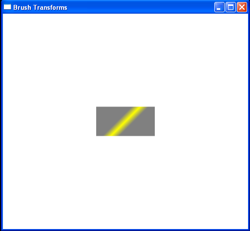 WPF Linear Gradient Brush Transform Rotate Transform