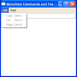 MenuItem Commands And Events