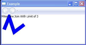 WPF Miter Line Join With Limit Of3