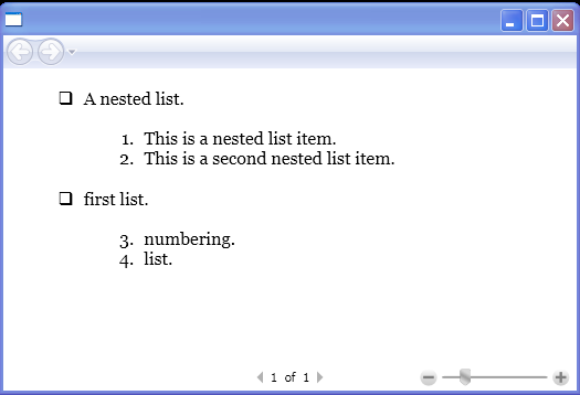 Nested lists