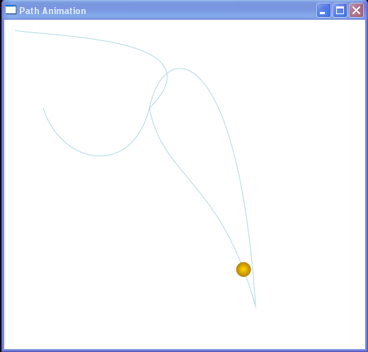 Path animation by code, duration, RepeatBehavior