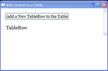 Programmatically add rows to a Table element.