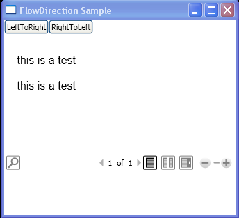 Programmatically change the FlowDirection of content within a FlowDocumentReader element