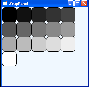 Put rectangles to WrapPanel