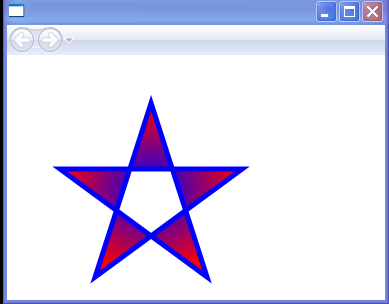 WPF Radial Gradient Star