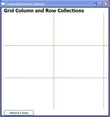Remove 5 Columns with ColumnDefinitions.RemoveRange