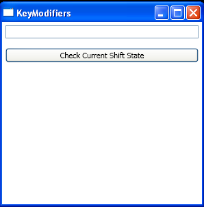 WPF Routed Events Key Modifiers