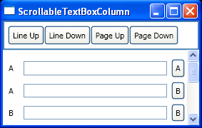 Scrollable TextBox Column