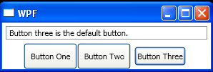 WPF Set A Default Button
