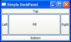 Set Dock position for DockPanel layout