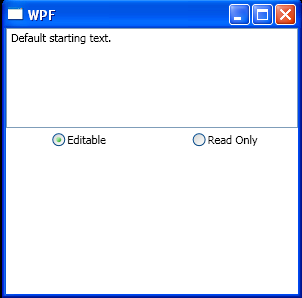 WPF Set Text Box To Editable
