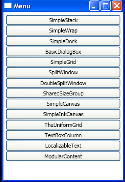 Show window based on button name