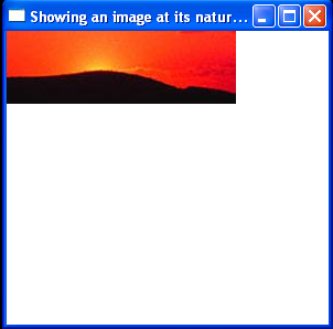 Showing an image at its natural size
