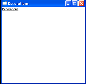 WPF Simple Underline Decoration