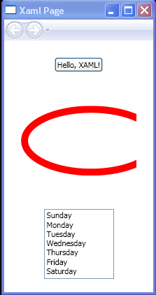 WPF Stack Panel With Button Ellipse And List Box