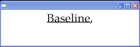 Text decorations: Baseline