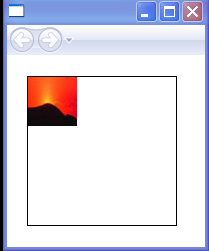 The ImageBrush's content is not tiled in this example