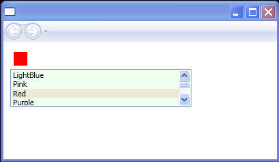 This list box allows items to be selected in groups by using the SHIFT key and mouse or the CTRL key and space key.