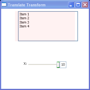 Translate Transform