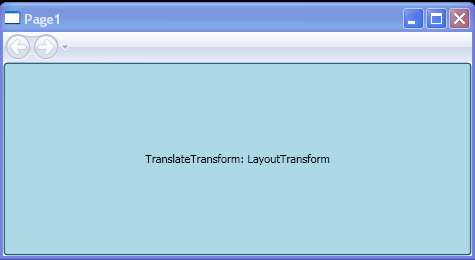TranslateTransform : LayoutTransform Sample
