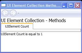UIElement Count
