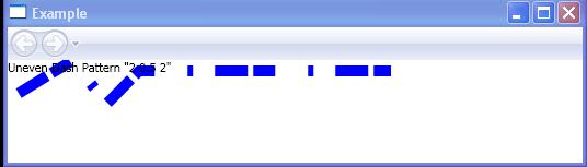 Uneven Dash Pattern '2 0.5 2'