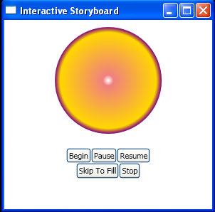 use button to resume an animation with resumestoryboard storyboard