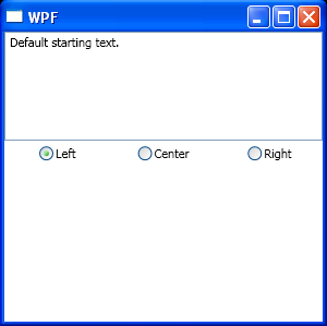 Use RadioButton to control TextBox alignment