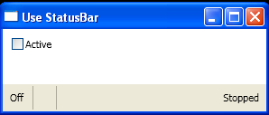 Use StatusBar