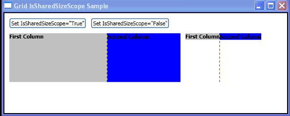 WPF Use The Is Shared Size Scope Attached Property Of The Grid Element