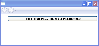 Using the access text escape. Use two underline characters if you want an underline to appear in your text.