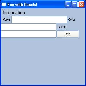 WrapPanel with Label and TextBox