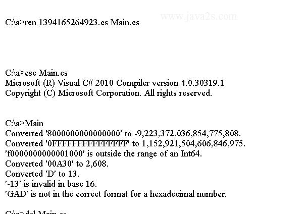 C# Tutorial - C# Convert ToInt64(String, Int32)