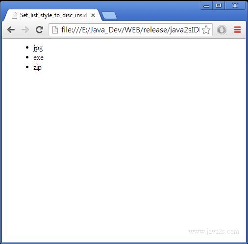 html ul style