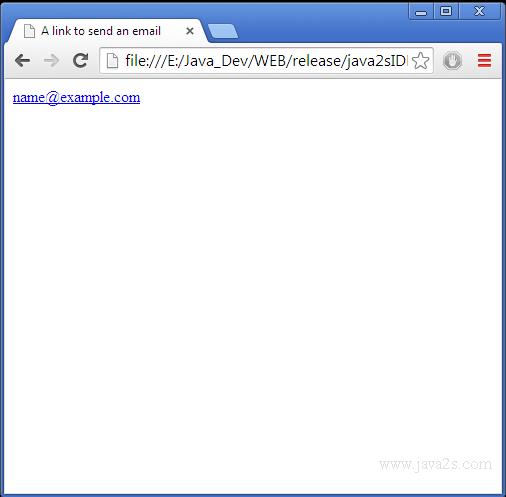 email hyperlink html