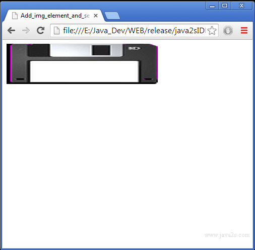 Add img element and set src, alt, width and height in HTML