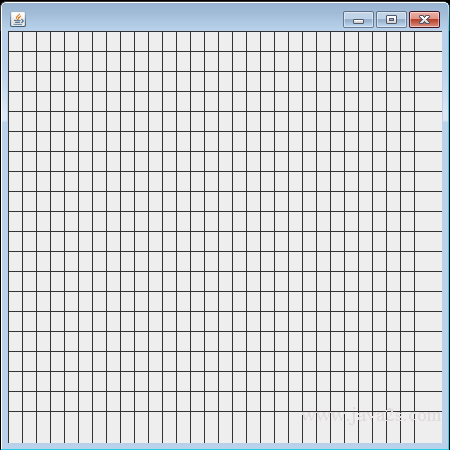 Java Tutorial - Draw a grid by drawing lines in Java