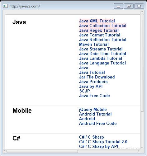 collection java api