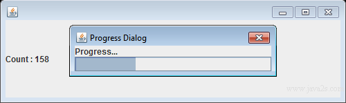 Java Tutorial Create A Modal Progress Dialog With