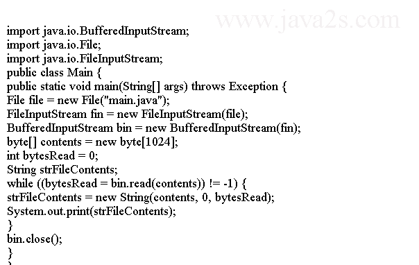 Java Tutorial - Read File into String Using