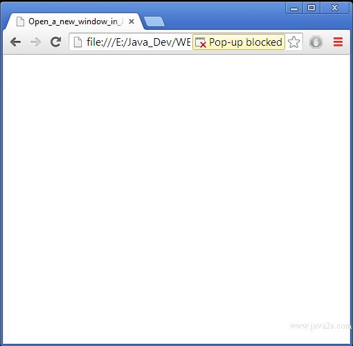 Open a new window in JavaScript