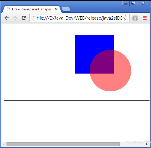 Drawing Lines Using Javascript : Draw transparent shapes on html canvas in javascript
