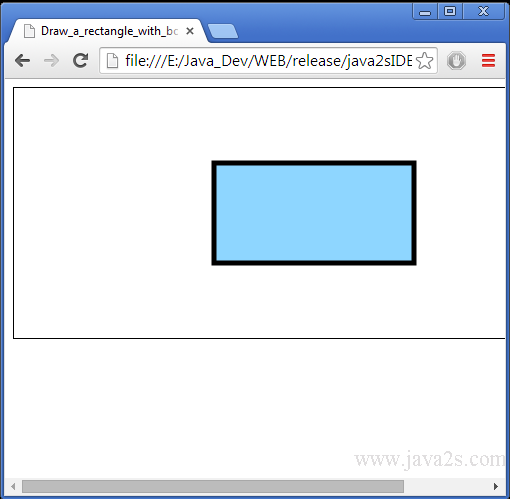 Draw A Rectangle With Border And Fill On Htnl5 Canvas In Javascript